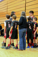 St. Joes 6th grade basketball action photos